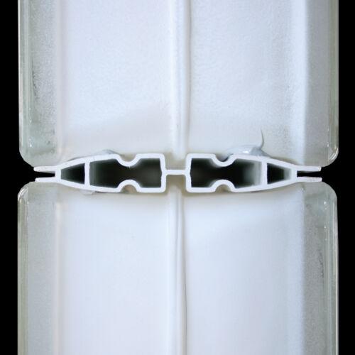 Glasbausteine Glassteine 19x19x8cm Mörtelfrei Quick-Fix Verlegesystem für 10 St