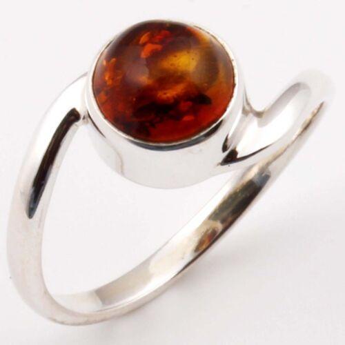 Fine EDH 925 solid sterling silver Baltic amber Gem Ring Choisir Tout Sz C-3007