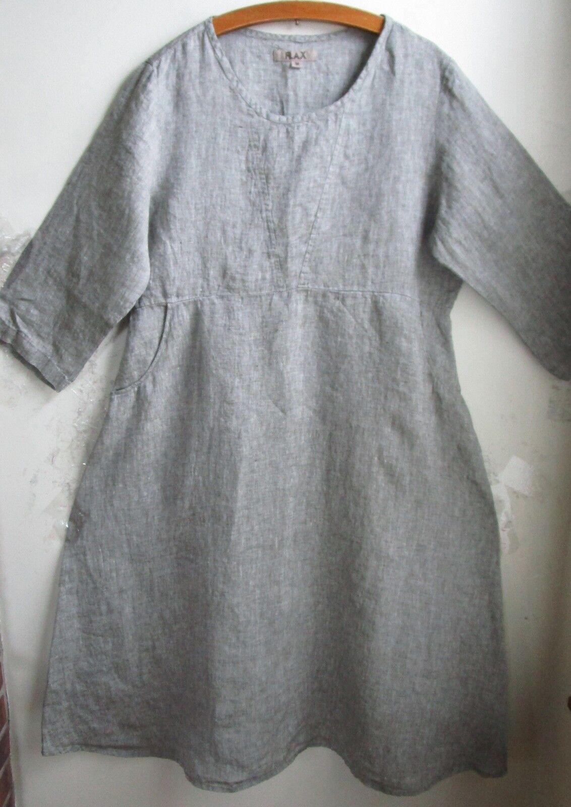 FLAX Designs  Linen   Dashing Dress   1G  & 2G    NWT  HERB