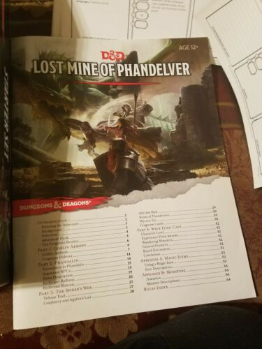 D&d Boxed Game: Dungeons and Dragons Starter Set : Fantasy Roleplaying  Fundamentals by Wizards RPG Team (2014, Game)