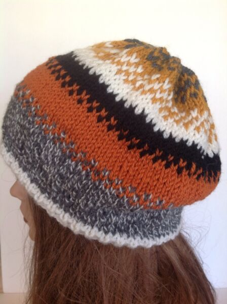 037fd0f88415e Hand Knit Beanie Hat Beret Slouch Designer Fashion Multicolor Hip Chic Ski