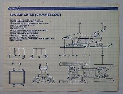 GI Joe Vehicle Dreadnok Zartan Chameleon Under Carriage Frame 1984 Original Part