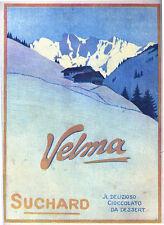FUTURISMO VELMA SUCHARD 1915 PUBBLICITA' ORIGINALE APPLICATA SU CARTONCINO