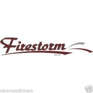 ELDDIS Firestorm FLAT VINYL Caravan Sticker Decal - Graphics for caravanscaravan stickers ebay