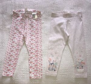 afecb1502 Details about H&M & George Girls 2 Pairs Of Patterned Leggings. Age 1 1/2 -  2 Years