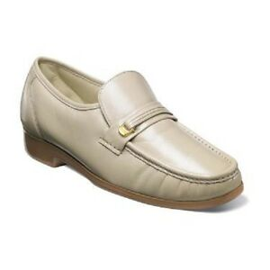 Image is loading Mens-Florsheim-Riva-Beige-shoes-Dress-up-Leather-