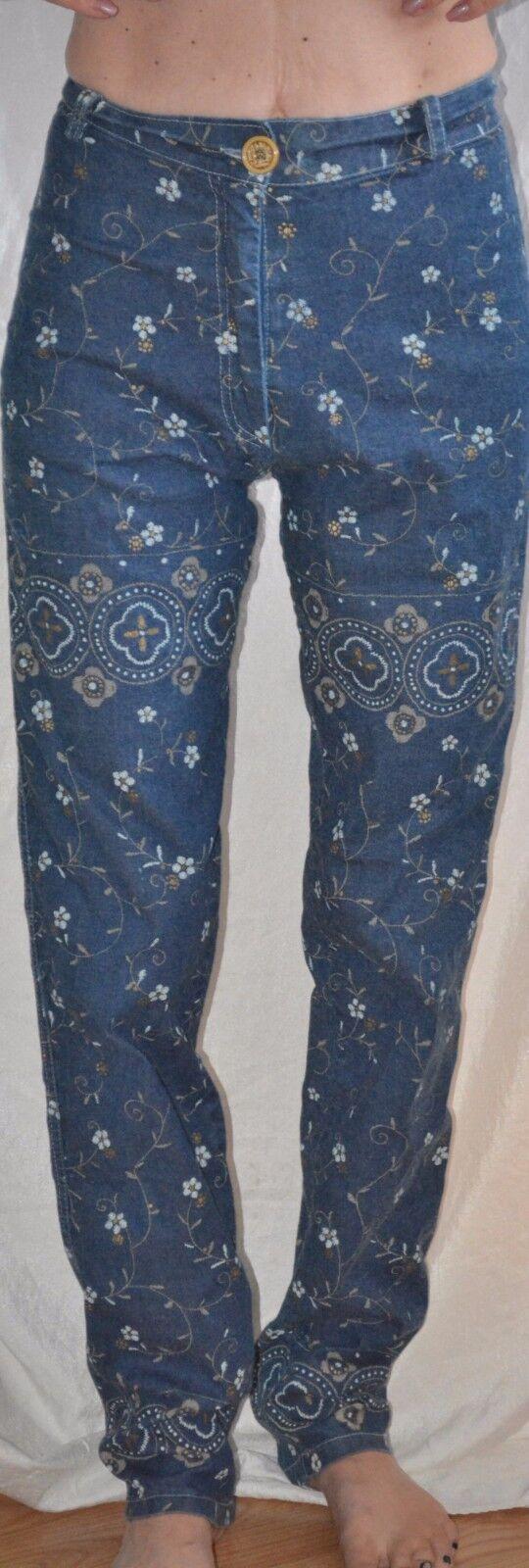 robin robine france jeans floral design Größe 1 small