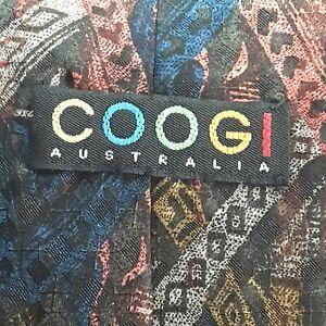 Coogi-Silk-Tie-Mens-Abstract-Retro-color-pattern