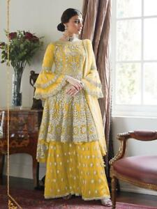 Anarkali Plazzo Party Wear Suit Designer Salwar Kameez For Women Ebay