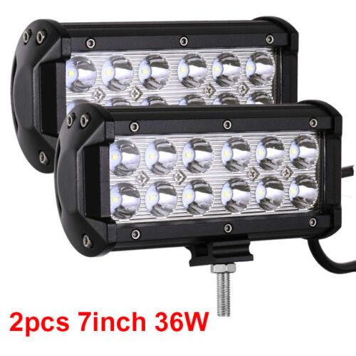 3//4//7//12//20//22//32//42//50//52Inch LED Light Bar Pods Cube Flood Spot Offroad Truck