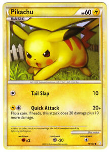 POKEMON • Pikachu HEARTGOLD & SOULSILVER 78/123 NM