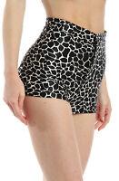 American Apparel Women's Disco Shorts Black & White Giraffe Size Small