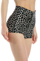 American Apparel Women's Disco Shorts Black & White Giraffe Size Small