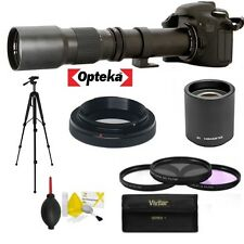 OPTEKA TELESCOPE TELEPHOTO ZOOM LENS 500-1000MM FOR CANON EOS  T3 T3I T5 T5