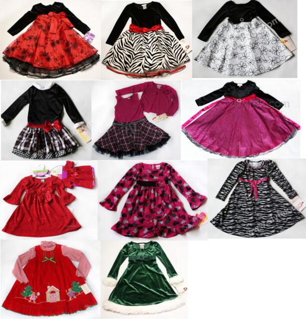 NWT Girls Dress Long Sleeve NEW set Holiday Xmas Birthday Hearts 4 5 10 12 14