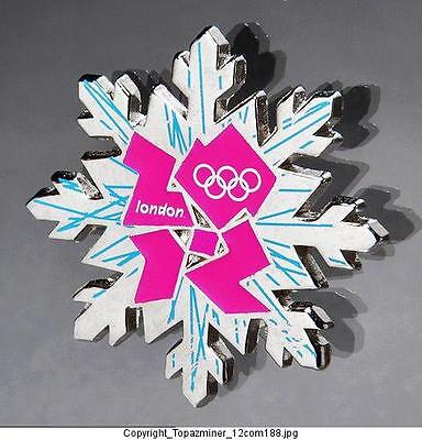 Olympic Memorabilia Hearty Olympic Pins Badge 2012 London England Uk Snowflake Logo Design Sports Memorabilia Pink Logo