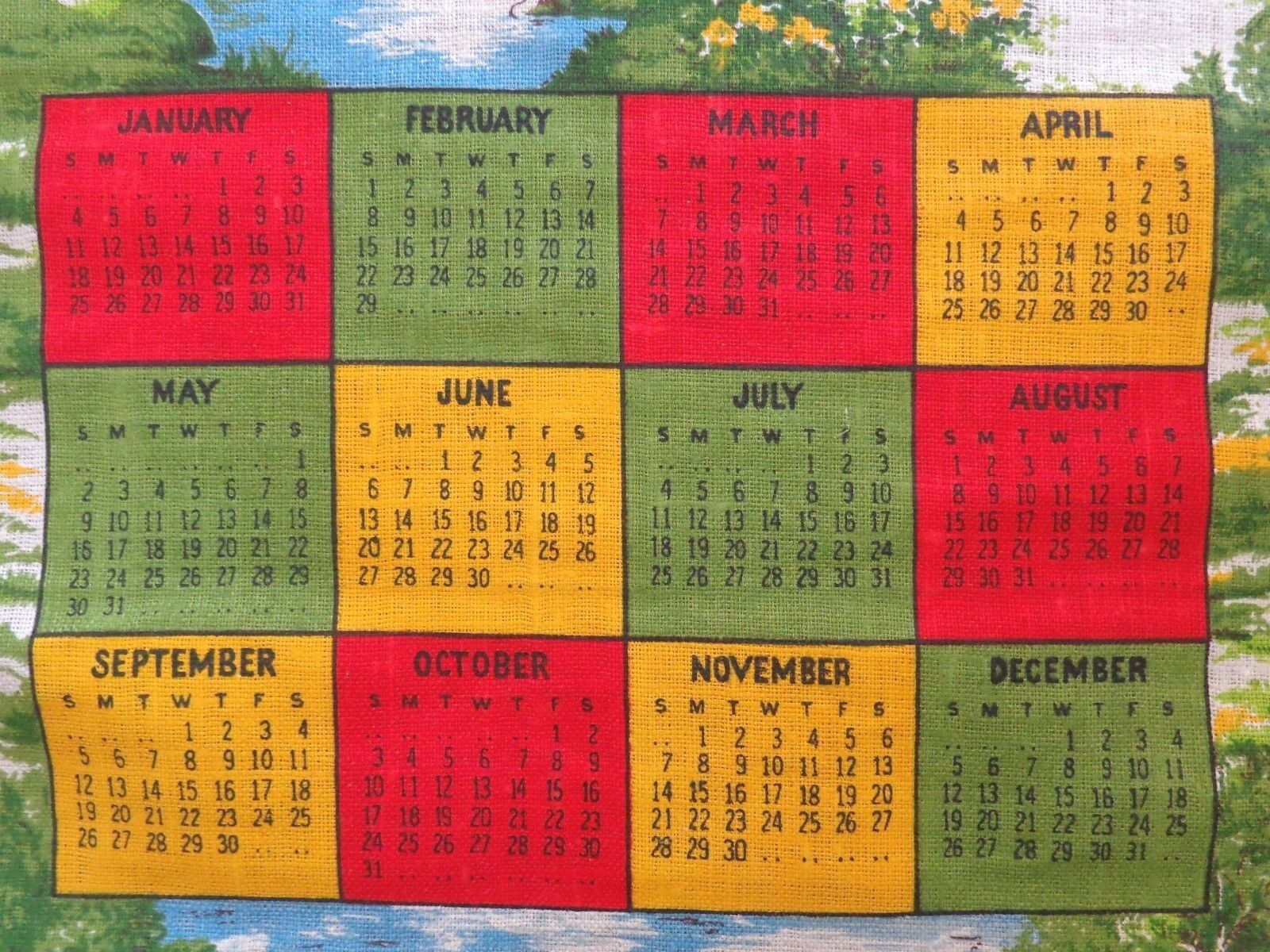 Bicentennial Stamp Collection and and and Cloth Calendars ( 3016) df1cb4