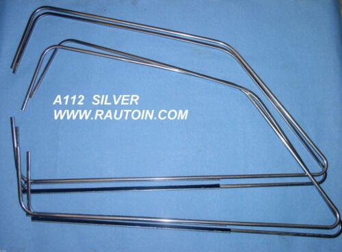 A112 ABARTH  4 CORNICI RASA ACQUA SILVER WINDOWS GLASS TRIMS