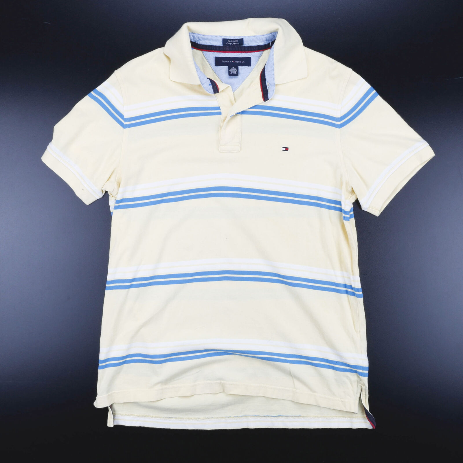 TOMMY HILFIGER Yellow 00s Short Sleeve Polo Shirt M