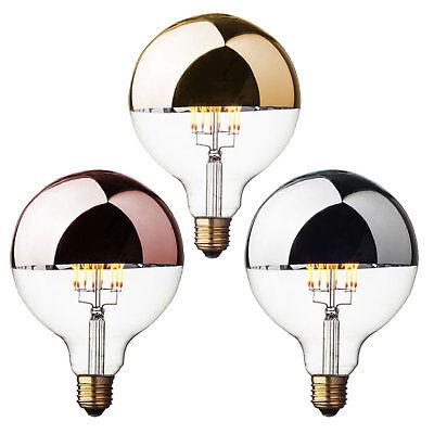 LED-Gl/ühbirne Kopfspiegel Kupfer /Ø 12,5 cm Leuchtmittel 8 Watt