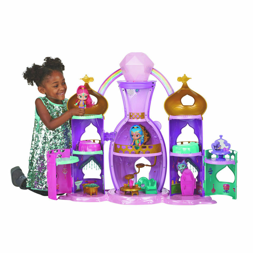 Shimmer och Shine magial ljus -Up Genie Palace leksak House Tea Set ljuss och Sounds