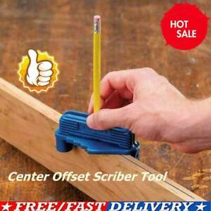 Multifunction-Center-Offset-Scriber-Marking-Tool-Magnetic-Carpenter-Bottom-Gauge