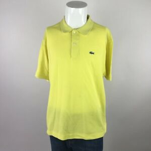 Lacoste-Mens-Polo-Shirt-Yellow-Short-Sleeve-Collared-Golf-100-Cotton-Top-7-XXL