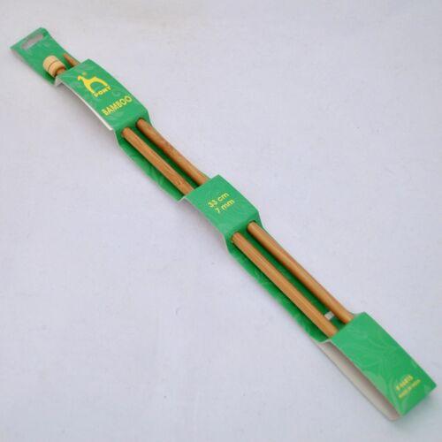 Pony bambou aiguilles à tricoter knit pin longueur 33cm long pick largeur mm toutes tailles