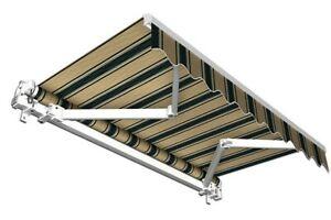 Markise-Balkon-Sichtschutz-Balkonmarkise-Sonnenschutz-braun-gruen-6x3-5-m-B-Ware