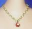 Barbie Dreamz ORANGE DROP PEARL NECKLACE Chain Pendant Doll Jewelry