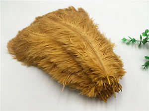 2017-Hot-Beautiful-10-200pcs-Dark-gold-ostrich-feathers-10-12inches-25-30cm