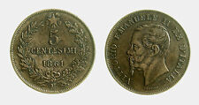 pcc2025_7) Vittorio Emanuele II (1861-1878) 5 Centesimi 1861 M tondello curvato
