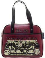Sourpuss Strange Girls Bowler Purse Two Headed Lobster Mermaid Freakshow