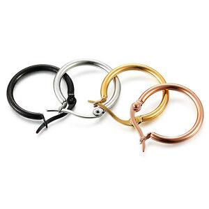 Stainless Steel Hoop Earrings Women Cute Small Earring Rings Ear