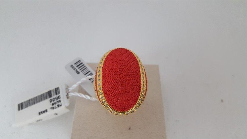Anello Byblos Temptation Ovale Rosso Dorato Ring rosso rosso rosso and oroen 5312e2