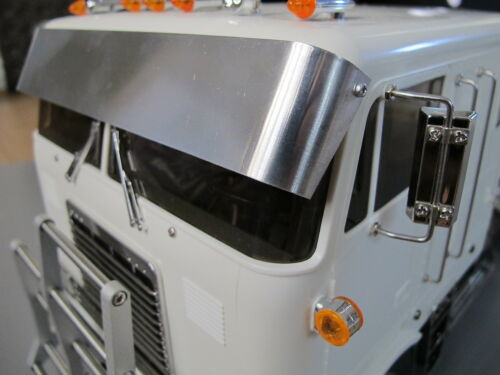 Tamiya RC 1//14 Globe Liner Semi Custom Vorne Cab Drop Lowrider Sun Visier Block