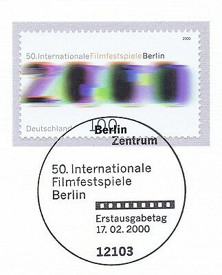Brd 2000: Filmfestspiele In Berlin Nr. 2102 Mit Berliner Ersttagsstempel 1a 1610