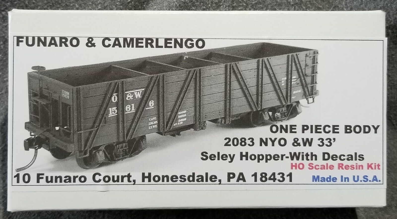 Funaro F&C 2083 NEW YORK ONTARIO WESTERN 33' Seley Wood Hopper O&W NYO&W 1-PIECE