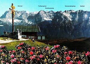 Wankhaus mit Karwendel , Ansichtskarte - Rostock, Deutschland - Wankhaus mit Karwendel , Ansichtskarte - Rostock, Deutschland