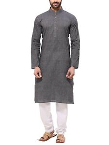 Kurta Pajama Dress for Men Long Sleeve Kurta Pyjama Set Indian Clothing Beige