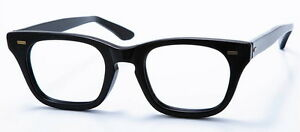 0729d1cfb2 Vintage Mens Eyeglasses - Black Plastic 1950 s Eye Glasses - Halo ...