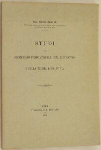 MARIO BARONE STUDI SIGNIFICATO ACCUSATIVO TEORIA LOCALISTICA 1926 LATINO GRECO