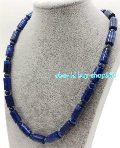 """Naturel Neuf 8x14mm Bleu Lapis Lazuli Pierres Précieuses Perles Collier 18/"""" AAA"""