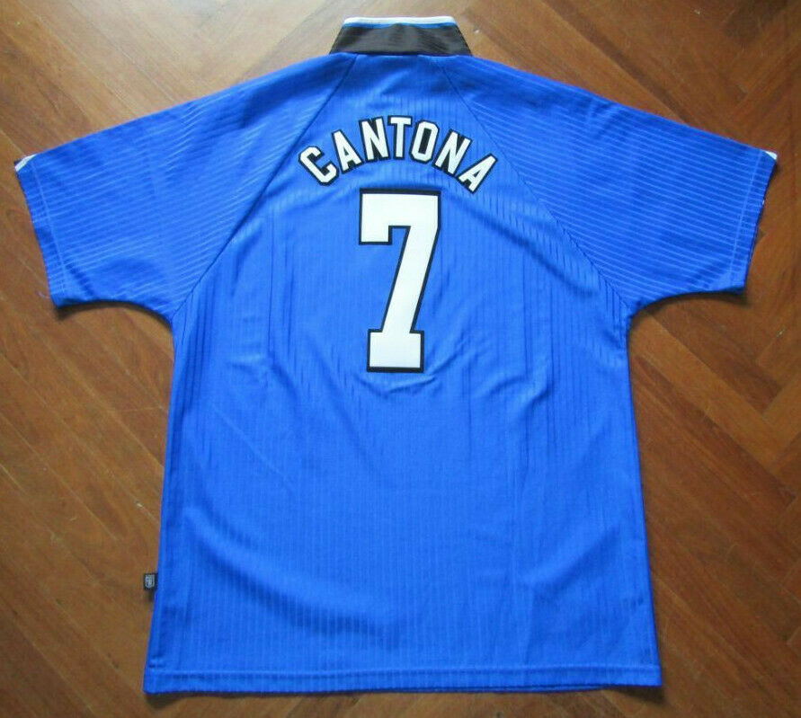 Maglia CANTONA uomoCHESTER UNITED FRANCE shirt trikot jersey maillot camiseta UCL
