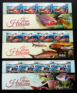 Malaysia-Ornamental-Fishes-2018-Pet-Fish-Aquarium-stamp-with-title-MNH