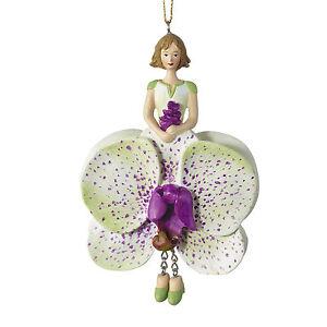Blumenmädchen Fee Deko Figur Elfe Fuchsie hängend
