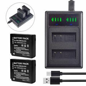 2X-DMW-BLG10-Battery-charger-for-Panasonic-Lumix-DMC-LX100-DC-LX100-II-DMC-GX85