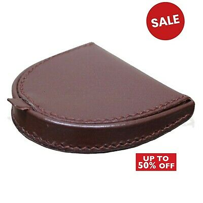 Real leather key coin holder bag money change pouch purse wallet gents womens UK