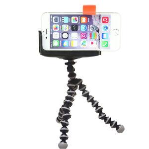Stativ-iPhone-7-SE-6-6s-plus-S7-edge-Staender-Halterung-Tripod-Kamera-Foto-Handy
