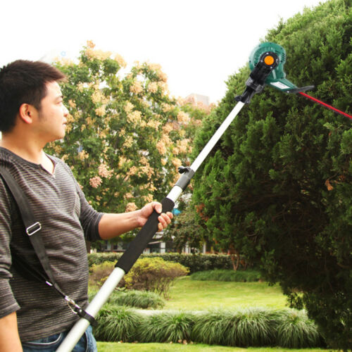 Long Reach Corded Electric Pole Saw Pruner Telescopic Pole Hedge Trimmer 2 IN 1